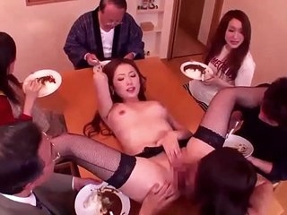 Asian japan gangbang group sex