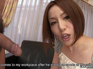 Asian slut Hiromi bagatelle masturbating as the toff wanks