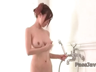 Passionate Chihiro Akino plays with their way big tits and pussy