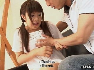 Asian adorable teen getting cummed in their way brashness unconditional soaking