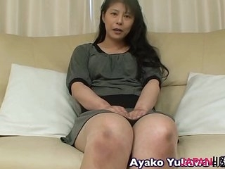 Japanese granny Ayako Yukawa blowjob and making love
