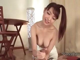 Tsurara Junna amazing POV Japanese blowjob show
